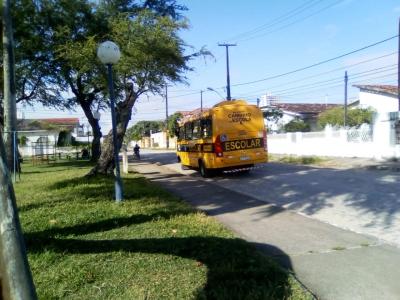 Flagrante de um ônibus
