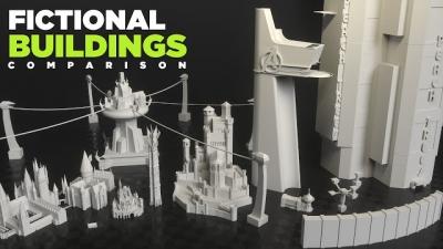 Comparação entre os maiores prédios da ficção