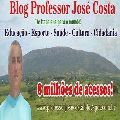 O Blog Professor José Costa alcança a marca de 8 milhões de acessos