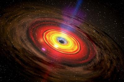 Buraco negro some em aglomerado de galáxias