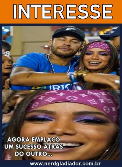 "Anitta diz achar Neymar ""Interessante"""
