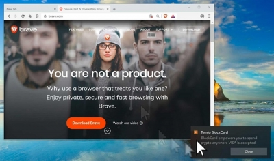 Navegador Brave Browser vai