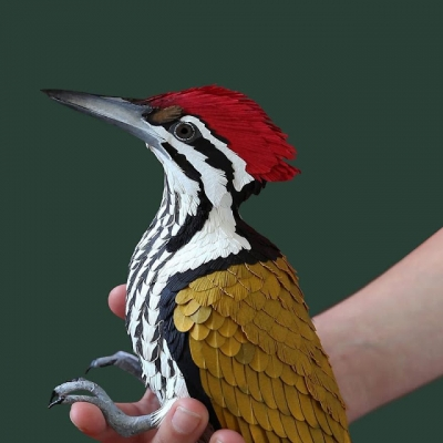 Artista cria aves incríveis usando apenas papel #2
