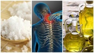 Curar as dores articulares com sal e azeite