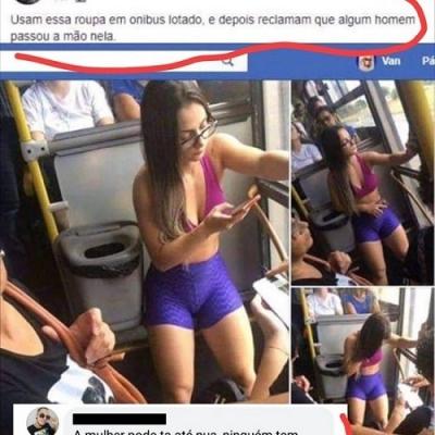 Usam essas roupas em ônibus lotado e depois reclamam!