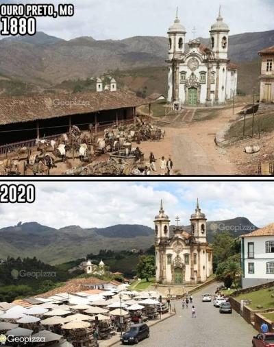 O antes e depois de alguns dos locais mais famosos do mundo #3