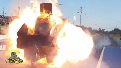 Carro explode ao usar nitro em corrida