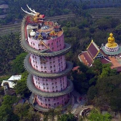 O Templo do Dragão na Tailândia