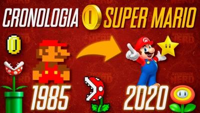 A evolução dos jogos do Mario (Ordem Cronológica)