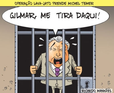 Charges feitas sobre a prisão de Temer