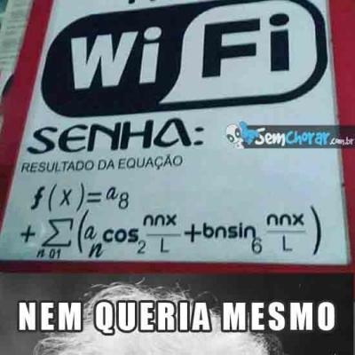 Aqui tem Wi Fi free