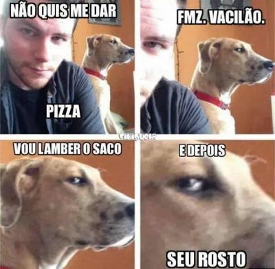 O que acontece quando você não dá pizza para o seu cachorro?