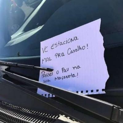 Isso acontece se vc estaciona mal
