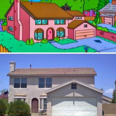 Acredita que casas de desenho famosos como os Simpsons existem na vida real?
