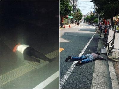 Polícia de Okinawa luta para impedir que as pessoas durmam nas estradas