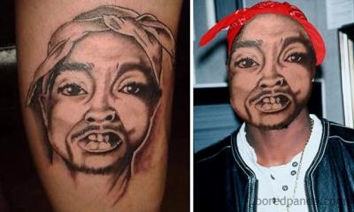 Trocando rostos com tatuagens incrivelmente ruins #2