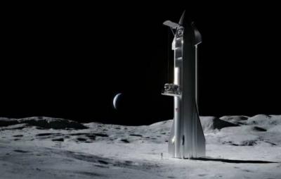 SpaceX estuda forma de pousar Starship na Lua com segurança