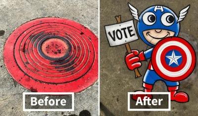 Artista transforma as ruas de Nova York com sua arte #3