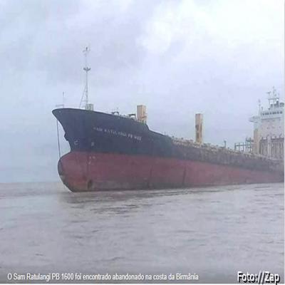 Gigantesco cargueiro fantasma sem tripulação aparece na costa da Birmânia
