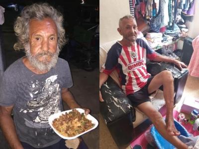 Morador de rua pede comida e recebe arroz com ração de cachorro