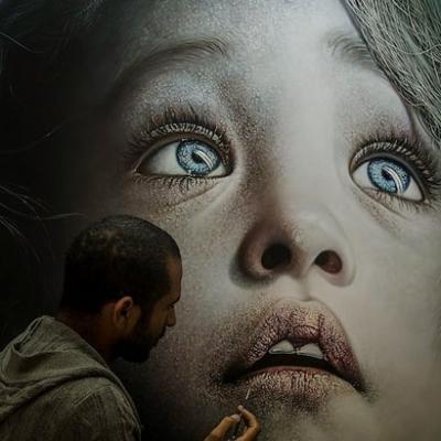 Kamalky Laureano, inacreditável realismo à tinta