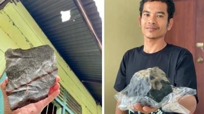 Homem fica milionário após encontrar meteorito