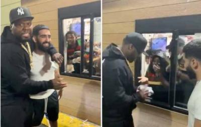 50 Cent dá gorjeta milionária a funcionário do Burger King