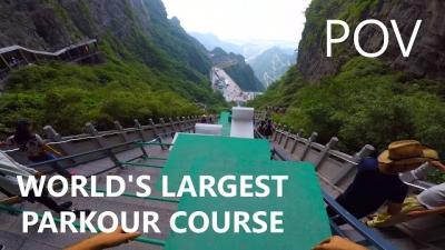 Conheça o maior percurso de parkour do mundo
