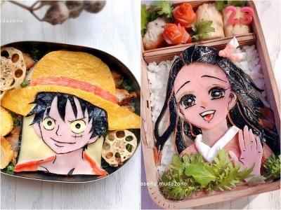 Artista de comida cria retratos comestíveis de personagens de anime populares