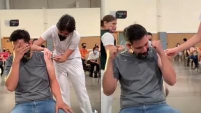 Mexicano faz escândalo por medo de vacina e vídeo viraliza