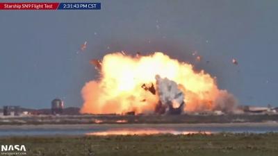 Veja o momento exato que o SpaceX SN9 explodiu