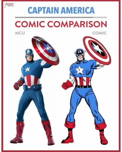 Comparação entre os personagens nos quadrinhos e no cinema (33 imagens)