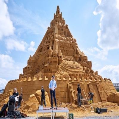 O castelo de areia mais alto do mundo