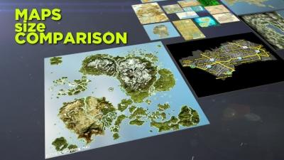 Comparando o tamanho dos maiores mapas do mundo dos games