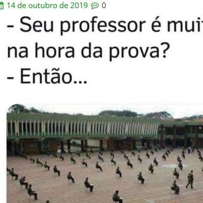 Professor paranóico. Não?