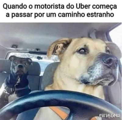 Quando o motorista do Uber começa a passar por um caminho estranho