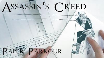 Assassin's Creed feito de papel é realmente incrível