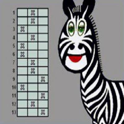 Zebrinha da Loteria Esportiva -   criada em 1972 pelo caricaturista Borjalo.