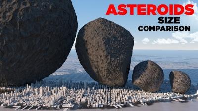 Comparando o tamanho dos maiores asteroides com uma cidade
