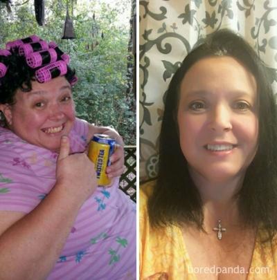 Antes e depois de pessoas que pararam de beber #2