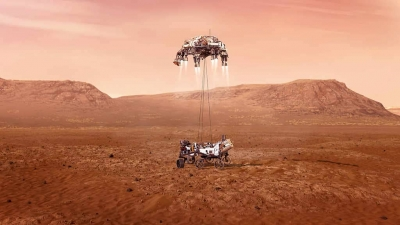 Perseverance pousa em Marte, video