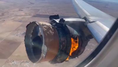Vídeo mostra uma falha de motor de avião bem de perto