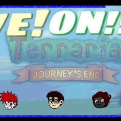 Seguindo nossa live de Terraria - Journey's END! Fizemos bastante coisas!