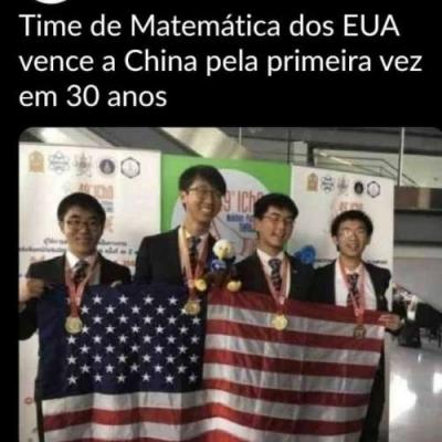 Chineses ganharam da China