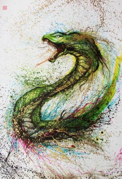 Combinação de arte chinesa tradicional e arte de rua ocidental