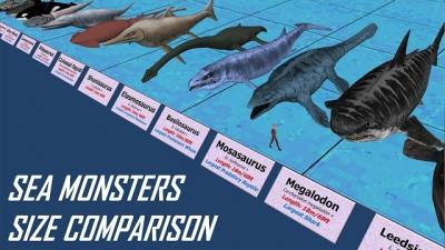 Veja a comparação entre os maiores seres aquáticos que já existiram
