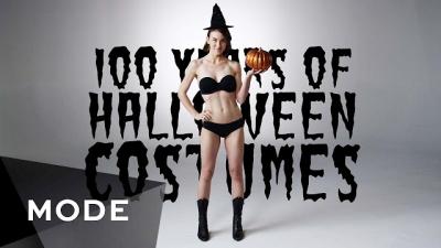 100 anos de fantasias de Halloween em 3 minutos
