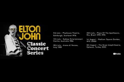 Elton John disponibiliza shows inéditos toda semana