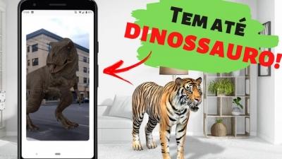 Animais em 3D dentro da sua casa!