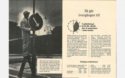 O dia em que a Suécia acordou com o trânsito virado do avesso